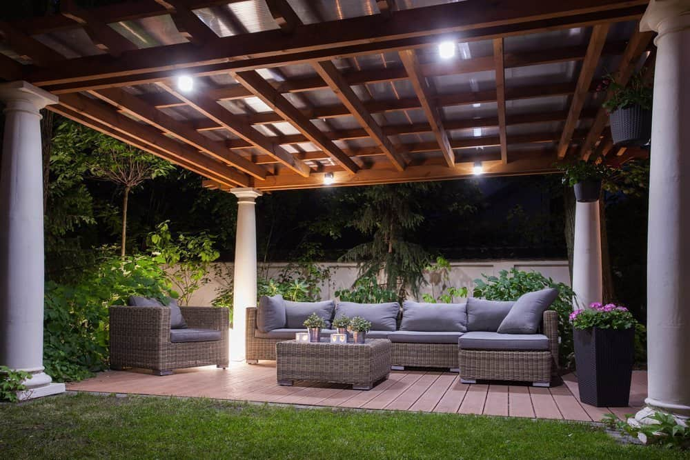 Residential patio electrical lighting